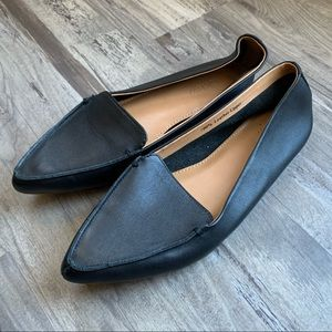 J Crew Factory Black Edie Pointed Toe Loafers Flat